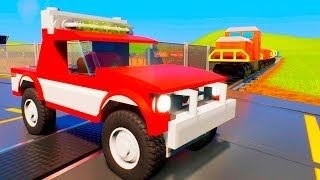 Stop The Train - Can Truck Stop Color Lego Train - Popular Rhymes - Color Trains