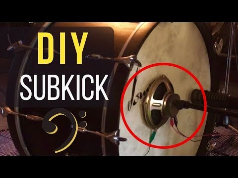 how to build a sub kick low frequency speaker microphone youtube. Black Bedroom Furniture Sets. Home Design Ideas