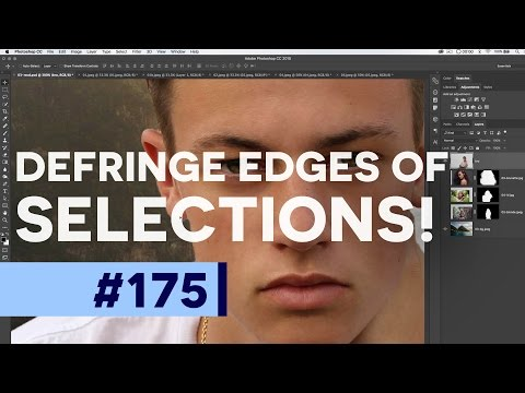How to Defringe in Photoshop (Perfect Selection Edges & Matte Color) | Educational