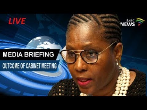 Minister Ayanda Dlodlo briefs media on outcomes of the Cabinet Meeting