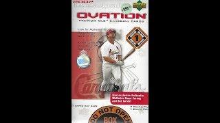 2002 Upper Deck Ovation Baseball 2 Blaster Box Break / 1 Hit