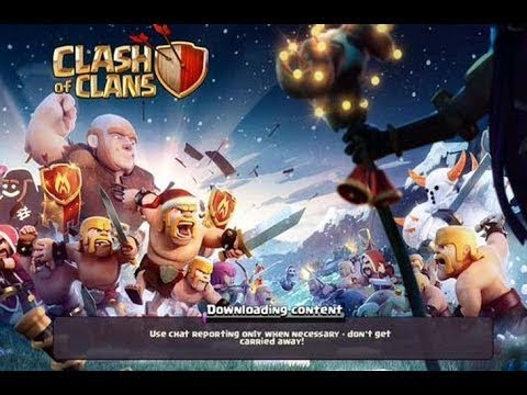CLASH OF CLANS  AND CLASH ROYALE DOWNLOADING CONTENT PROBLEM SOLVED!!!