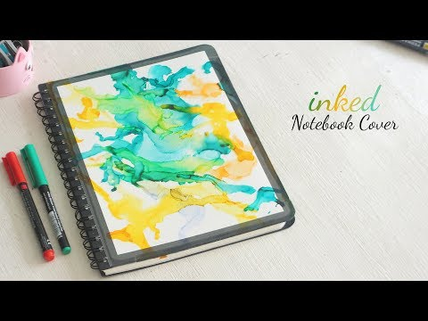 DIY Inked Notebook Cover   DIY Notebooks   Alcohol Ink Art