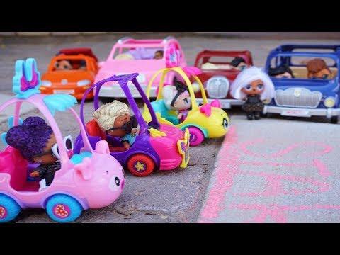 Lol Surprise Dolls Lemonade Stand Race!