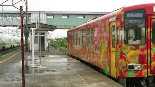 2018年08月26日 山形鉄道 赤湯駅を発車するYR-888