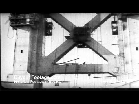 HD Stock Footage Golden Gate Bridge Construction San Francisco Reel 1