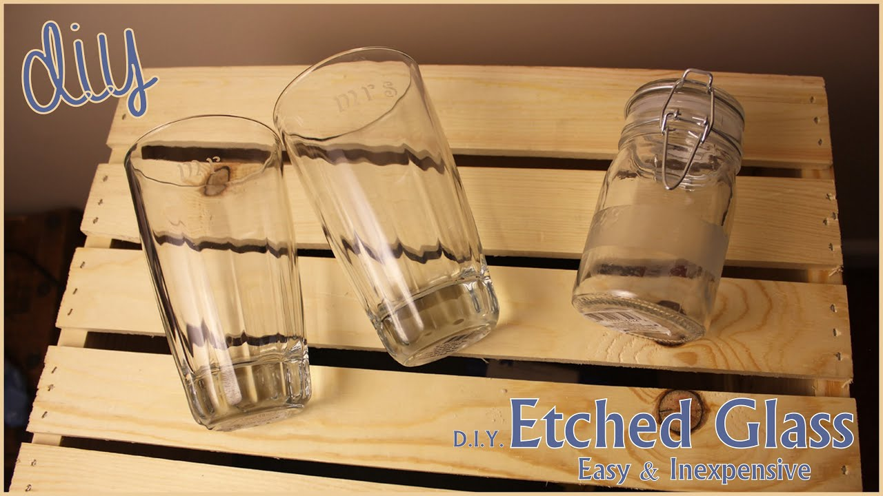 Diy Etched Glass Great For Diy Weddings Diy Gifts