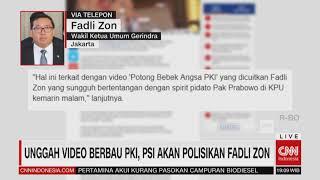 Fadli Zon akan Dipolisikan PSI, Fadli: Dia itu Siapa? Kalau Lapor, Saya Lapor Balik!