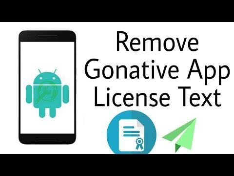 Remove Gonative.io এর License Popup Text খুব সহজে
