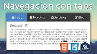 Creando Navegacion con Tabs o pestañas con HTML, CSS y JS