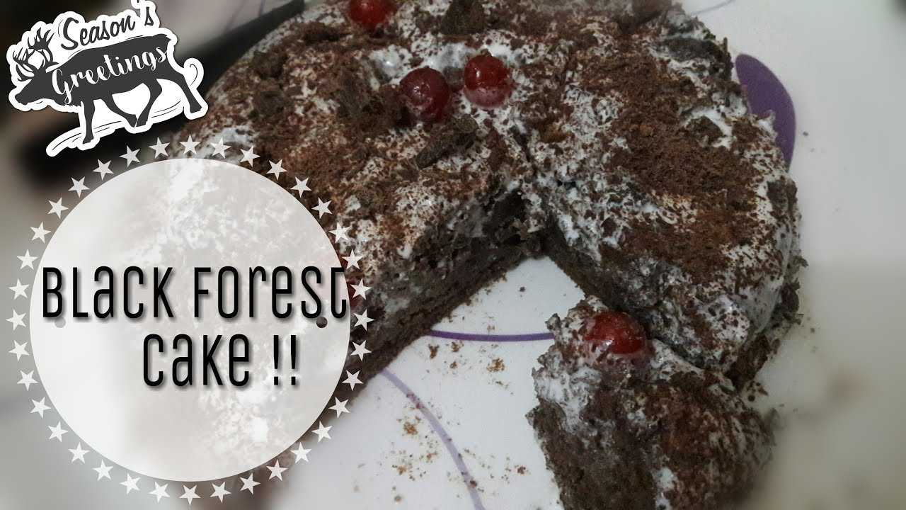 Cake Recipes In Marathi Oven: Black Forest Cake Recipe Without Oven