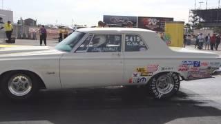John Dourlet's 1964 Plymouth Hemi burnout at 2014 NHRA LasVegas Drag Race