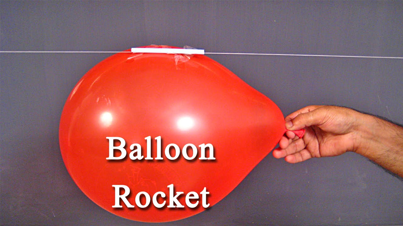 Balloon Rocket An Easy Science Project For Kids To