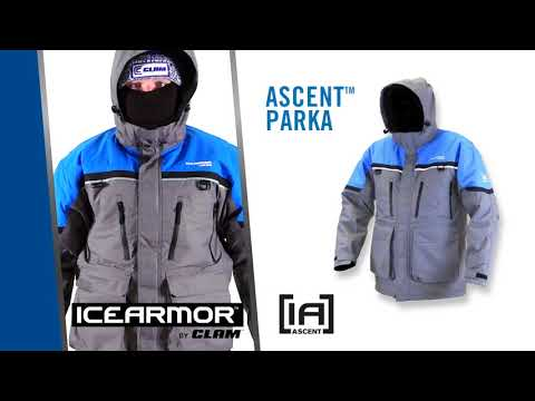 Ascent Ice Fishing Float Suit By IceArmor By Clam, Float Technology For Security And Mobility