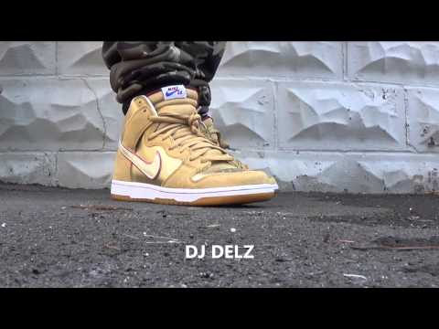 best service 5a963 613dc eBay Marketplace Logo Nike SB Dunk High Thai Temple Eric Koston Sneakers On  Feet Look With DjDelz ...