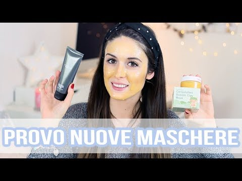 PROVO 3 MASCHERE DIVERSE! Gold Mask, Maschera al Carbone MAC & Bubble Clay Mask.