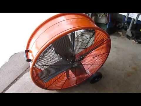 MaxxAir 30 in  Industrial Heavy Duty, 2-Speed PRO Drum Fan - YouTube
