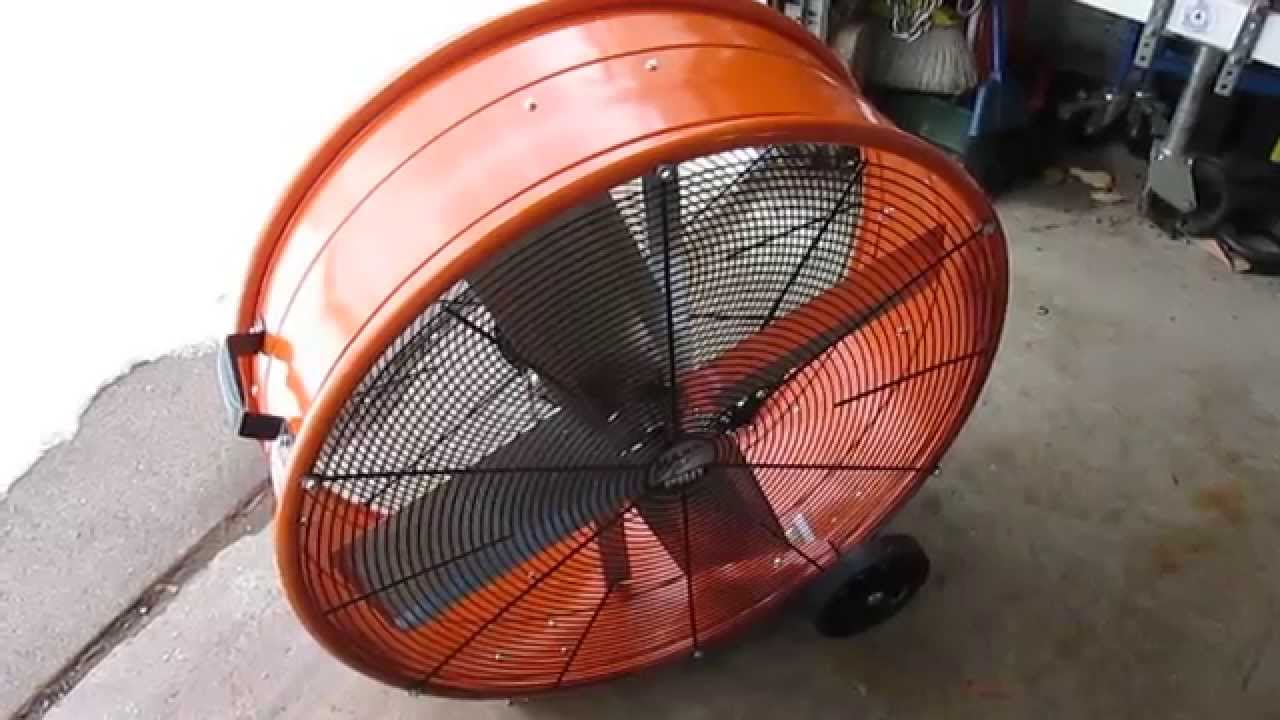 maxxair 30 in industrial heavy duty 2 speed pro drum fan youtubeindustrial heavy duty  [ 1280 x 720 Pixel ]