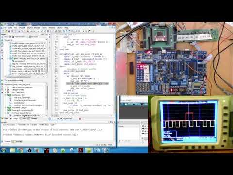 FPGA VHDL PWM Pulse Width Modulation Development Board Implementation Xilinx Spartan 3