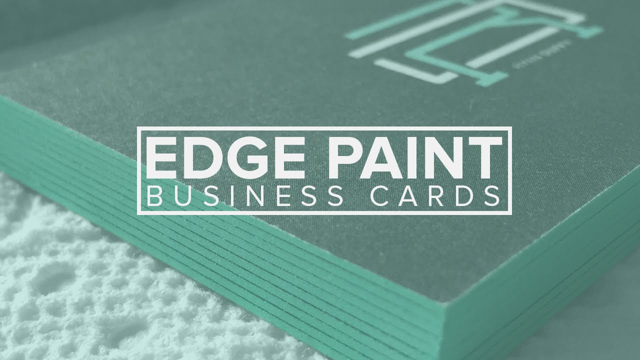 Edge painted business cards diy youtube reheart