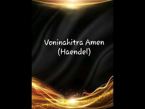 """Chorale Antsahabe Fitiavana - """"Voninahitra Amen"""" (haendel)"""