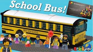 LEGO 🌎 City School Bus! Amazing build by Brick Designers 🧱 kid minifigures , city pics + review !