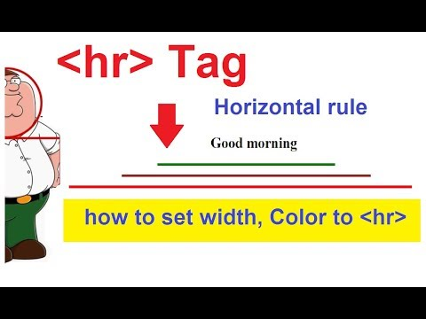 Hr Tag In Html | Html Hr And Its Properties | Horizontal Rule In Html