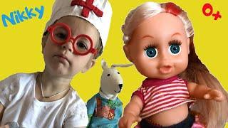 ДОКТОР Никки - ПРИВИВКИ. Мы играем в больницу. Видео для детей