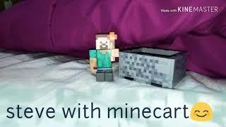 Minecraft figure series 3 (Steve with Minecart)😉😊
