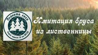 Имитация бруса из лиственницы. СтройМаркет Планета леса 32 км МКАД(, 2015-10-10T22:44:50.000Z)