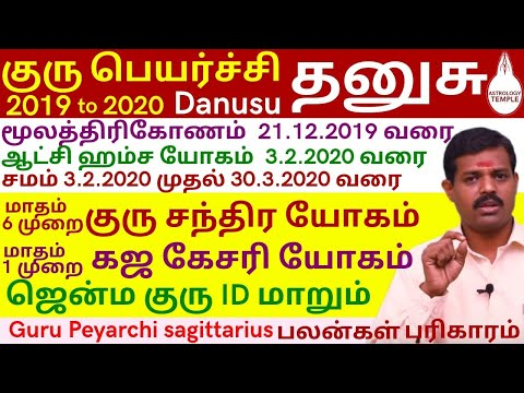 Dhanusu Guru Peyarchi Palankal 2019-2020 | தனுசு