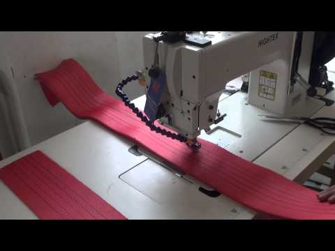 Sewing synthetic webbing slings of Nylon or Polyester