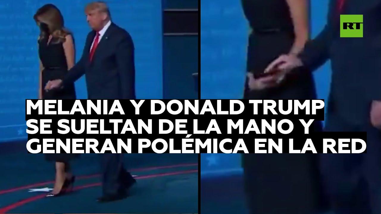 Melania y Donald Trump se sueltan de la mano y generan polémica en la Red