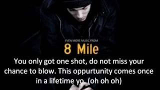 Repeat youtube video Eminem - Lose Yourself (Lyrics)