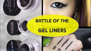 BATTLE OF THE GEL LINERS! ➹ Bobbi Brown, Maybelline, Banila Co Review Comparison