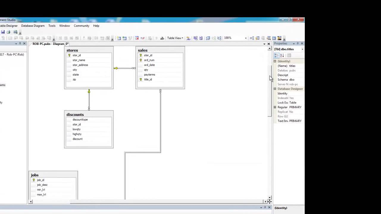Sql server creating a database diagram youtube sql server creating a database diagram ccuart Image collections
