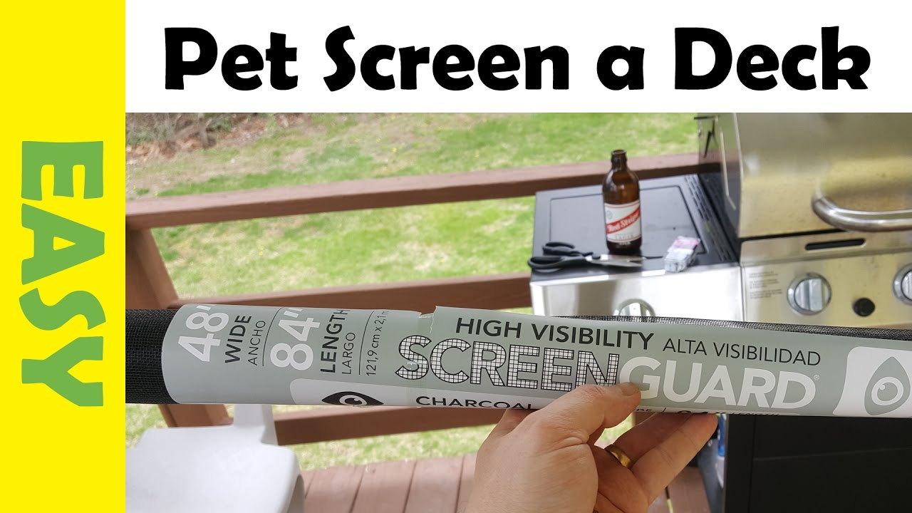 How To Install Diy Pet Fence Using A Mesh Screen For Cats