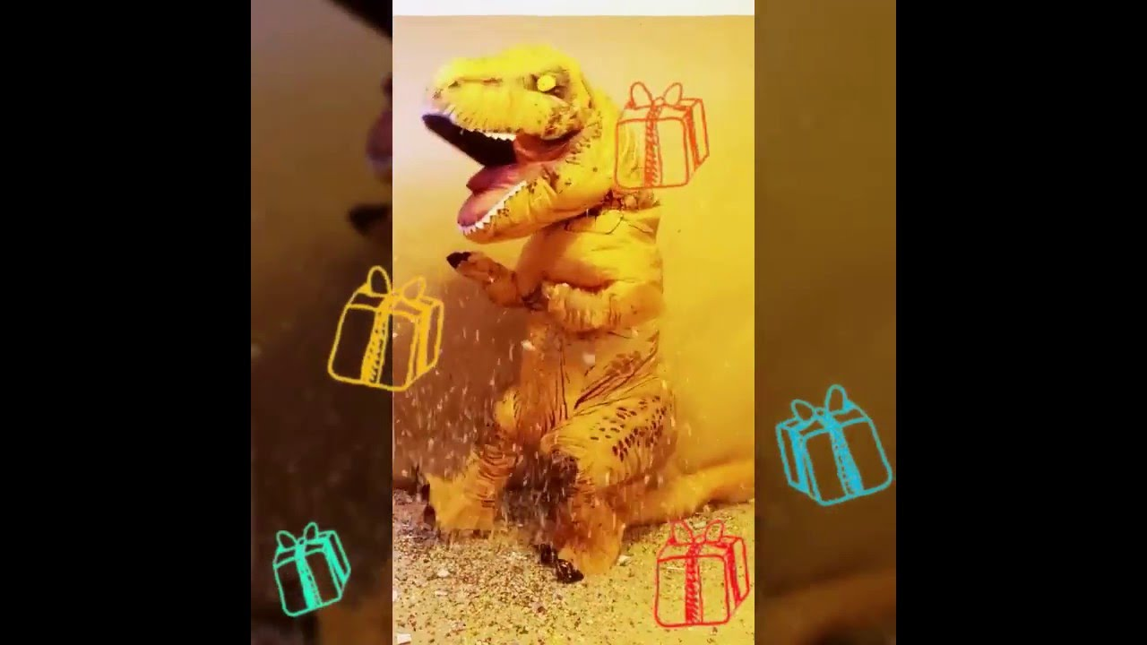 maxresdefault happy birthday from tooth the t rex in inflatable costumes youtube