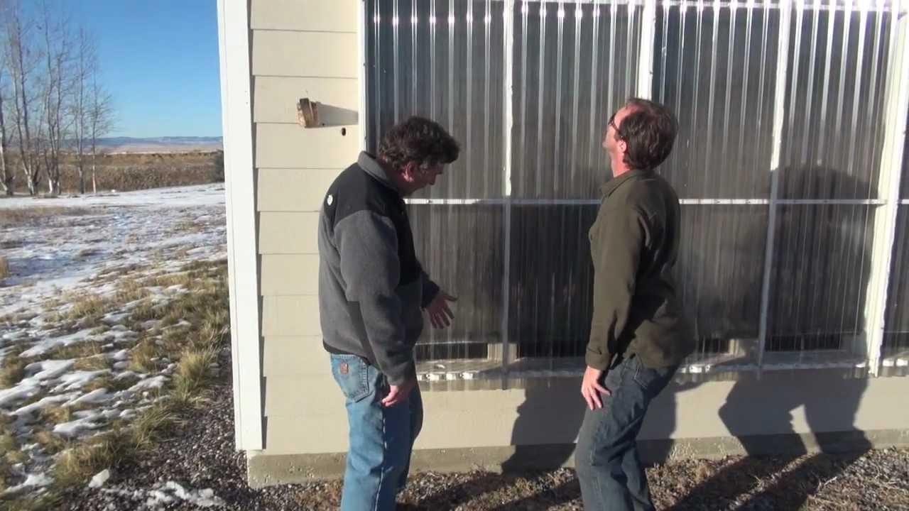 Home Built Passive Solar Air Heater Youtube