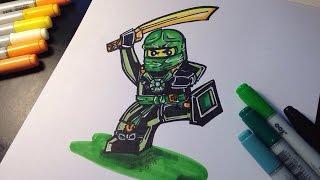 How to draw Ninjago Airjitzu - Green Ninja - Morro - Lego Speed Draw #77