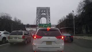 Driving from Fort Lee in New Jersey to Washington Heights in Manhattan,New York