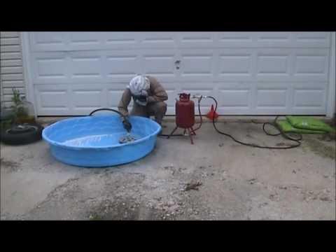 Bead Blaster Tire >> Sand Blasting Motorcycle Wheel and Sprocket - YouTube