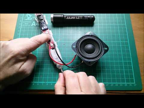 Connecting a Loudspeaker to a Toothbrush