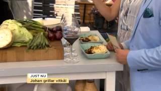 Johan Hedberg grillar oxkind, palsternacka och vitkål - Nyhetsmorgon (TV4)