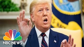 Moments ago: Trump Meets With Chinese Vice Premier Amid Trade Talks | NBC News