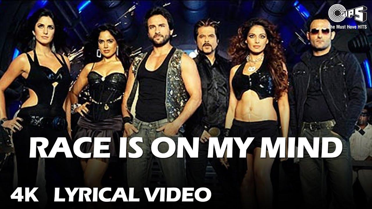 Race Is On My Mind (Lyrical) Saif Ali K, Bipasha, Katrina K, Anil K, Akshaye K | Sunidhi C, Neeraj