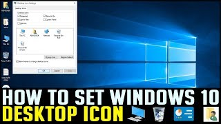HOW TO SET DESKTOP ICON IN WINDOWS 10 | COMPUTER TIPS & TRICKS