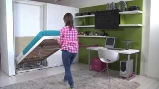 видео Скрытая выдвижная кровать для маленьких интерьеров