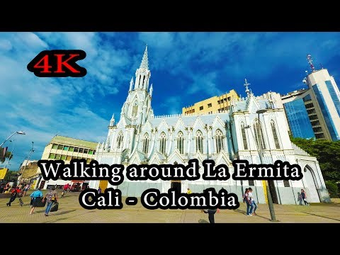 4K - Cali Colombia - Walking Around La Ermita - Yi 4K+