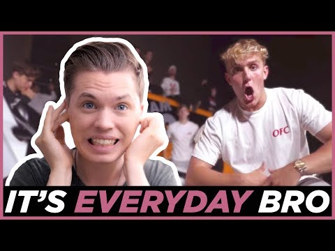 "Thumbnail: REAL MUSICIAN reviews ""It's Everyday Bro"" by Jake Paul"